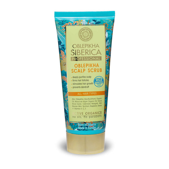 Natura Siberica Oblepikha Scalp Scrub for All Hair Types 200ml (0277)