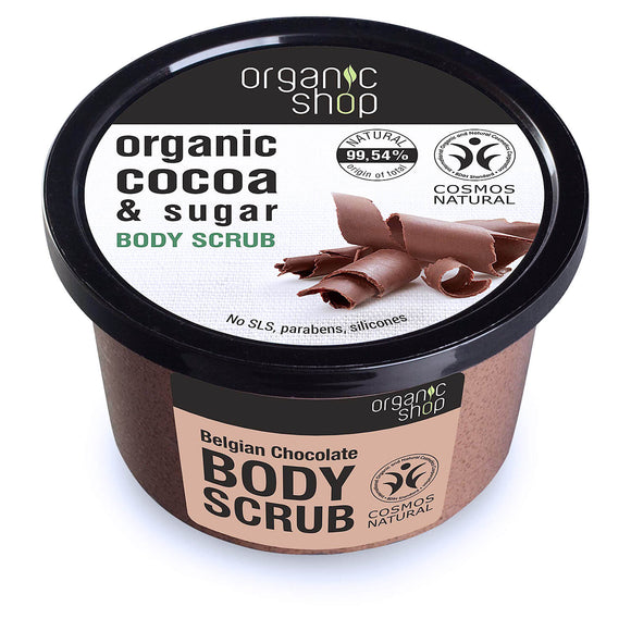 Organic Shop COCOA & SUGAR Belgian Chocolate body scrub