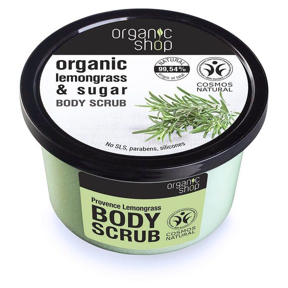Organic Shop Provence LEMONGRASS & SUGAR body scrub