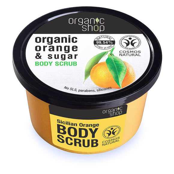 Organic Shop Sicilian ORANGE & SUGAR body scrub