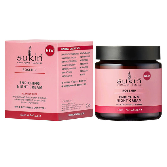 surh009_Sukin_Rosehip_Enriching_Night_Cream for dry and distressed skin types 120ml