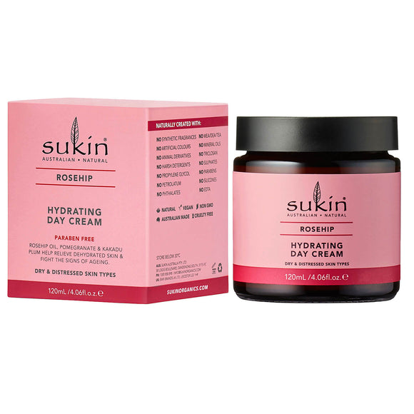 Sukin_Rosehip_Hydrating_Day_Cream for dry and distressed skin types 120ml