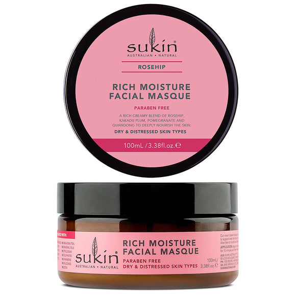 Sukin_Rosehip_Rich Moisture Facial_Masque for dry and distressed skin types 100ml