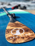 The 1 Piece Carbon Paddle - Maple Burl