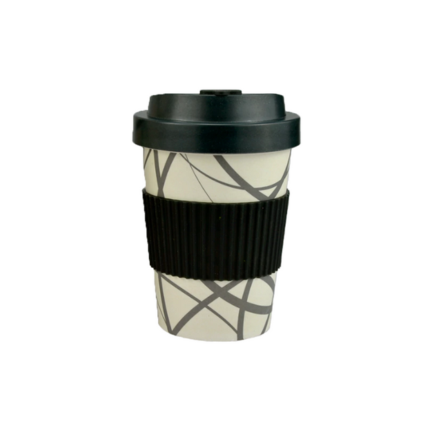 Go Bamboo Circles Coffee Cup 300ml - RV Living NZ
