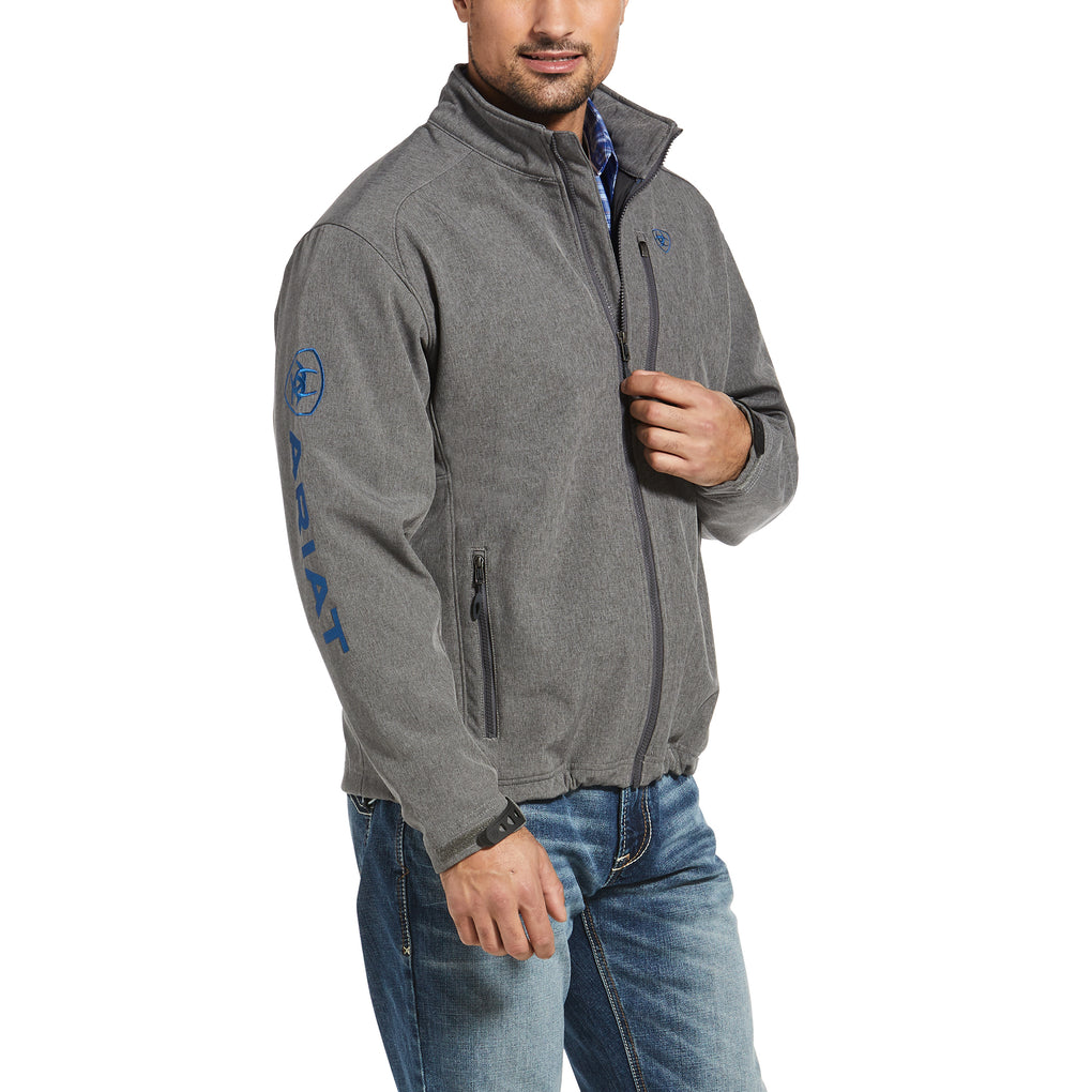 ARIAT LOGO 2.0 SOFTSHELL JACKET - CHARCOAL/COBALT