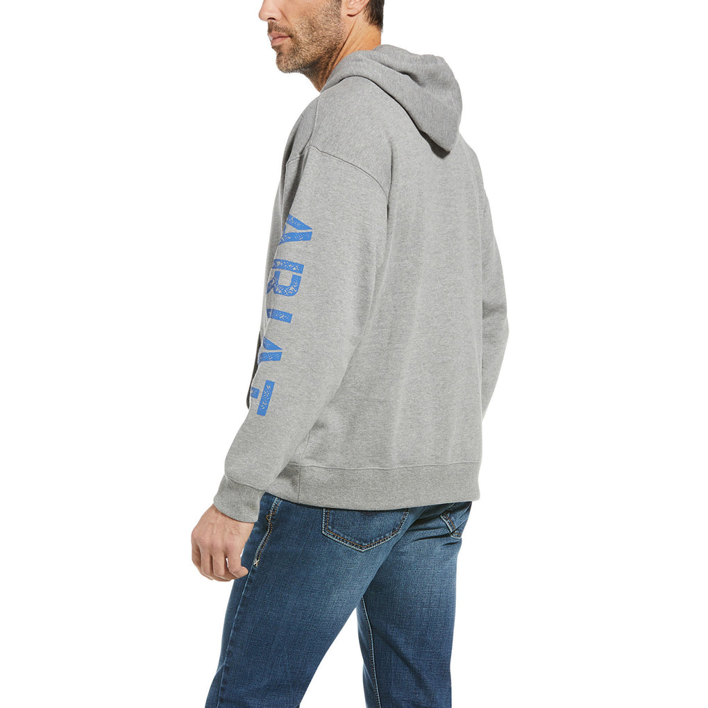 ARIAT CLASSIC LOGO HOODIE - ATHLETIC GREY HEATHER