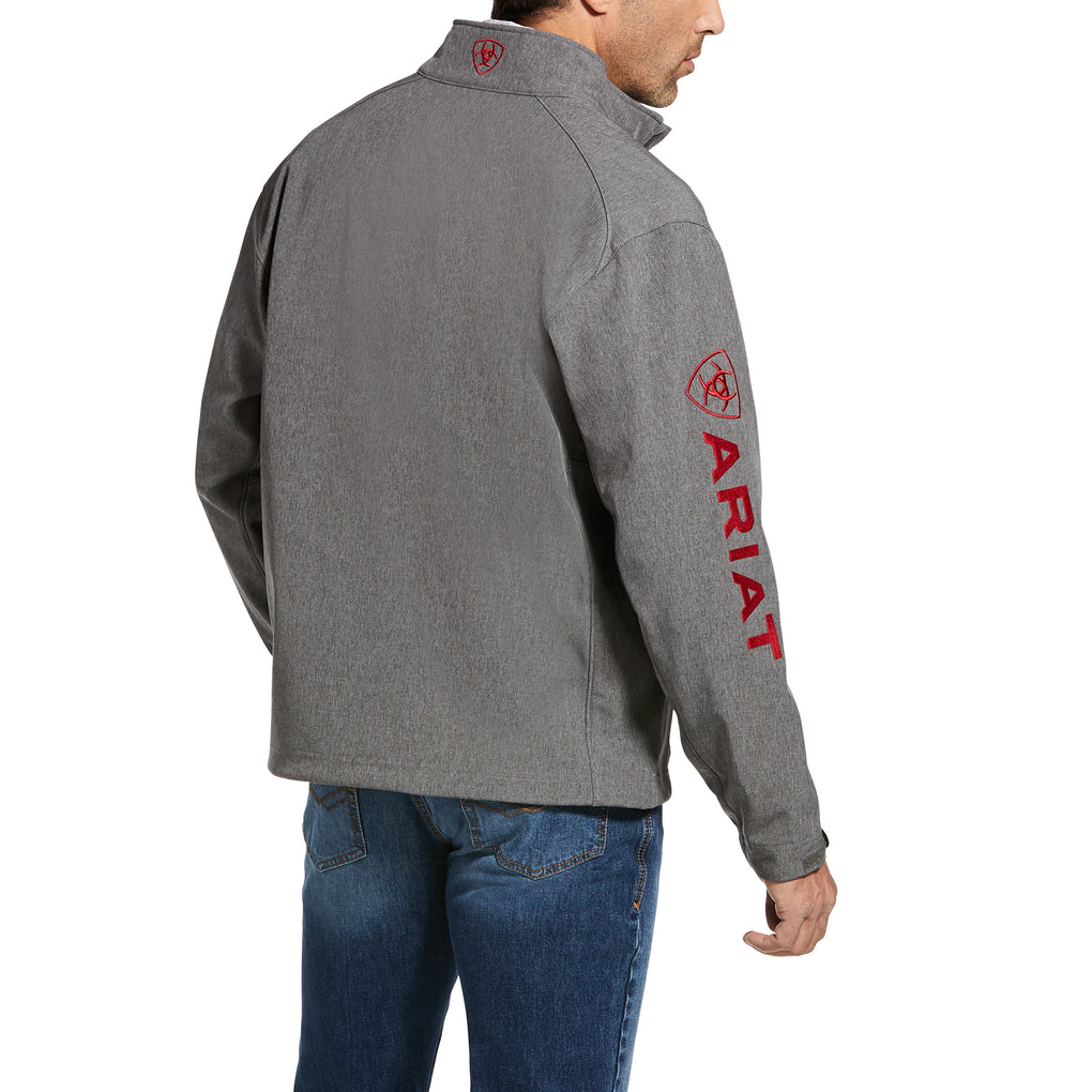 ARIAT LOGO 2.0 SOFTSHELL JACKET - CHARCOAL/RED