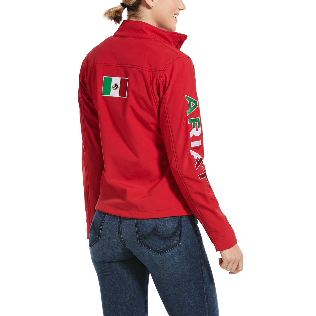 ARIAT WOMEN'S CLASSIC TEAM SOFTSHELL MEXICO JACKET - RED