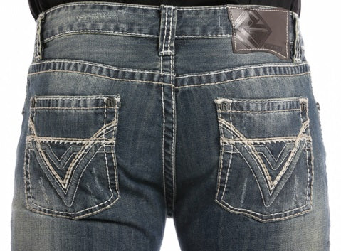 ROCK & ROLL DENIM PISTOL REGULAR FIT BOOTCUT JEANS - MED. WASH - El Toro Boots