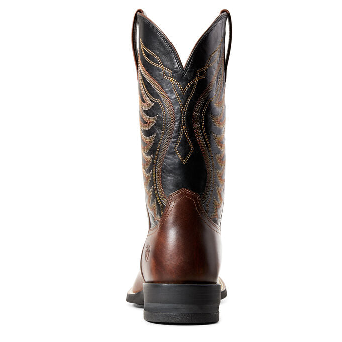MEN'S ARIAT AMOS HAND STAINED RED-BROWN WESTERN BOOTS - El Toro Boots