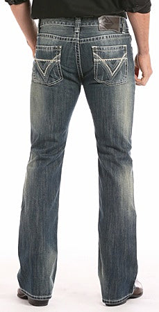 ROCK & ROLL DENIM PISTOL REGULAR FIT BOOTCUT JEANS - MED. WASH