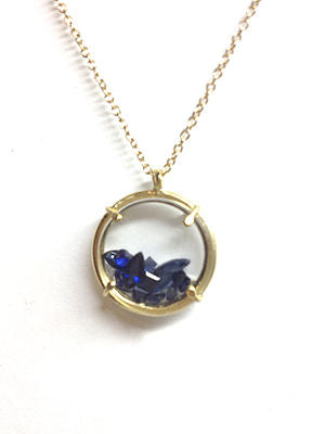Sailor's Valentine with Blue Sapphires