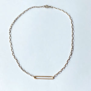 Edwardian Pin Medium Belcher Chain Necklace - Sterling Silver