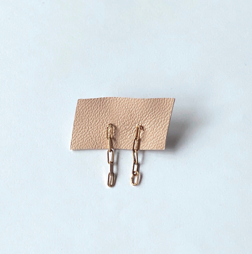 Thin Belcher Link Earrings