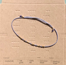 Load image into Gallery viewer, Silver Custom Morse Code Bracelet