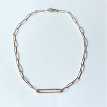 Load image into Gallery viewer, Edwardian Pin Heavy Belcher Chain Necklace