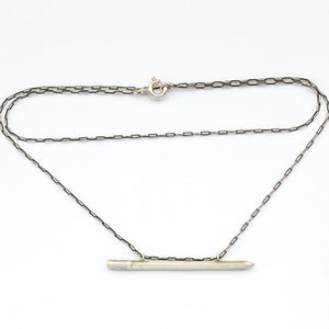 Sterling Silver Pencil Necklace