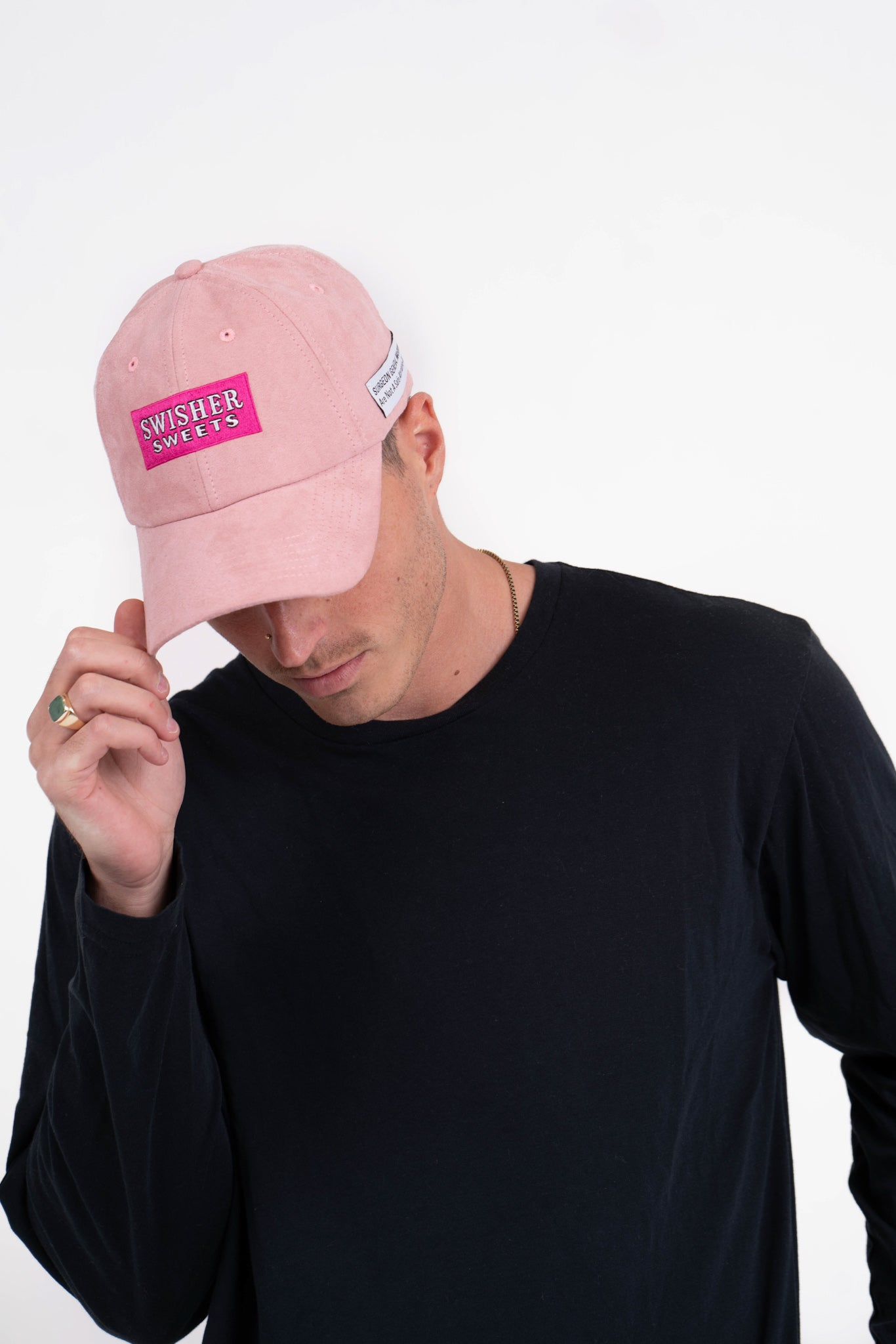 Faux-Suede Dad Cap Light Pink