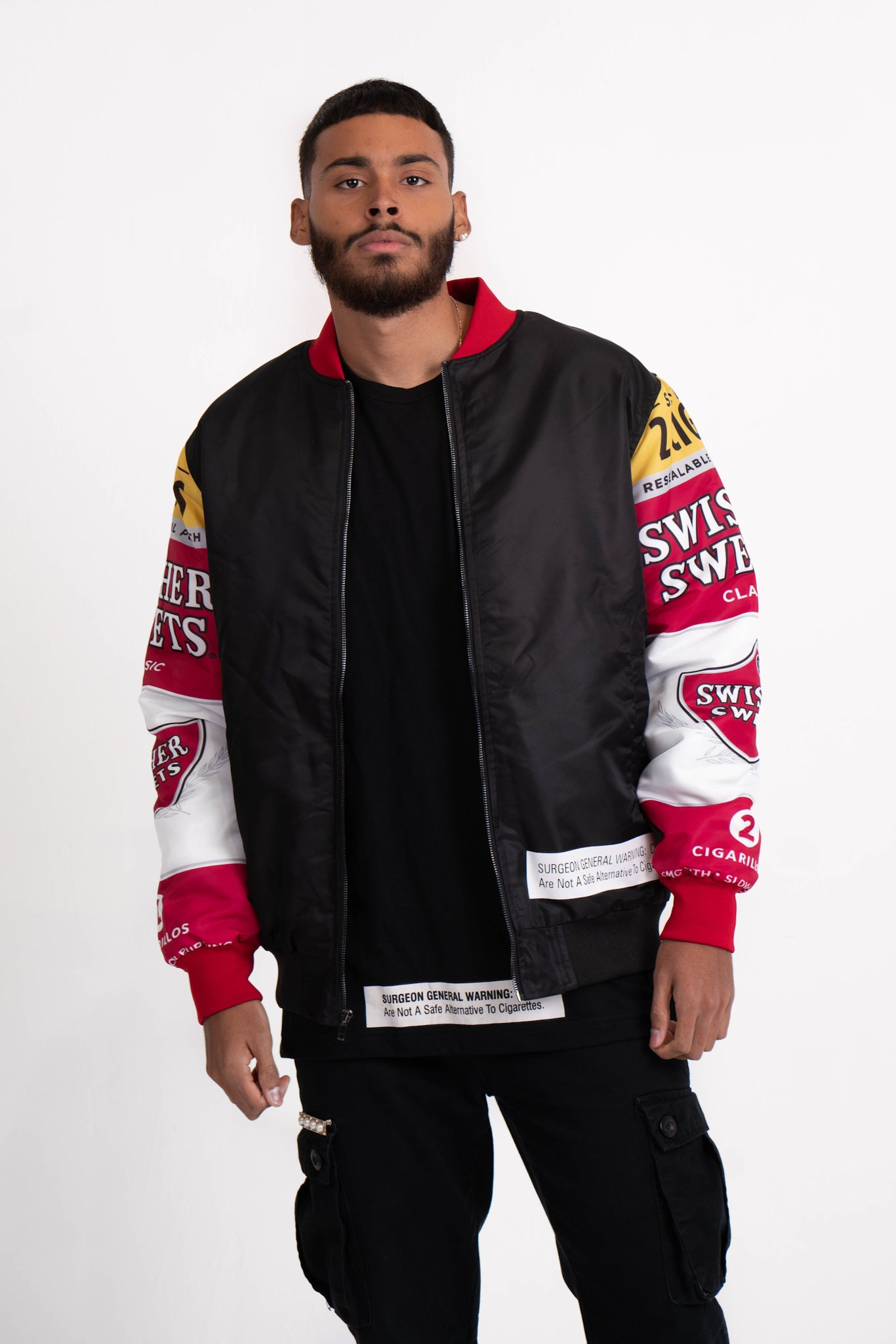 Drip Sleeve Bomber Jacket