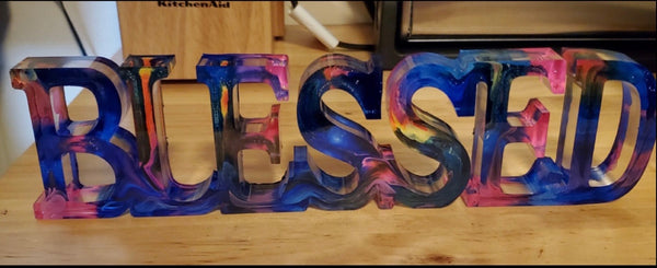 Swirled Colored Resin Signs