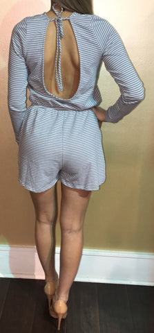 112 Terry Stripe Romper