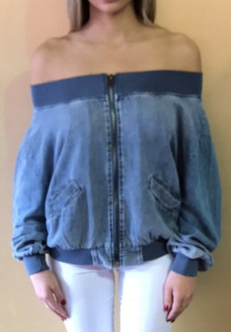 144 Denim Off Shoulder