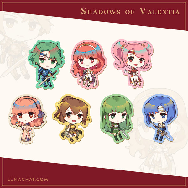 Shadows of Valentia Vinyl Stickers