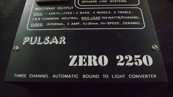 PULSAR ZERO 2250 3 channel Disco light Controller sound to Light