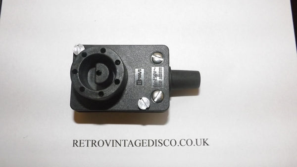 Bulgin Disco lighting Plug Power Connector , 8pin , 250 V ac solder terminals