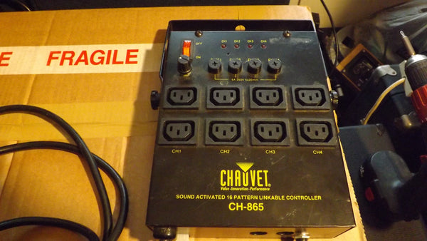 Chauvet CH 865 4 channel Disco light Controller sound to Light