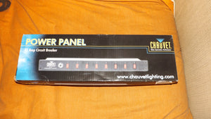 Chauvet 8 way power panel lighting switch box