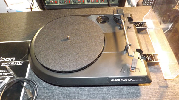 ION Quickplay LP Vinyl Record Turntable for Hi Fi & USB MP3 Digital Convertor