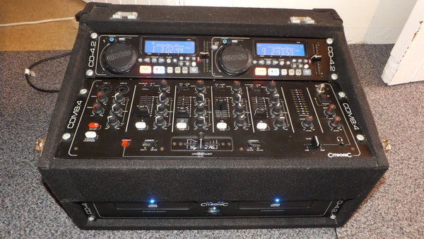Citronic Double CD and mixer in flight case