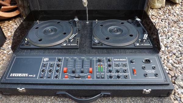 NJD Lancaster Mk2 Twin disco decks with speakers and lights complete disco