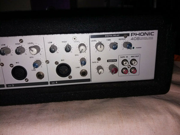 Phonic 408 Powerpod series 80 watt powered mixer amplifier