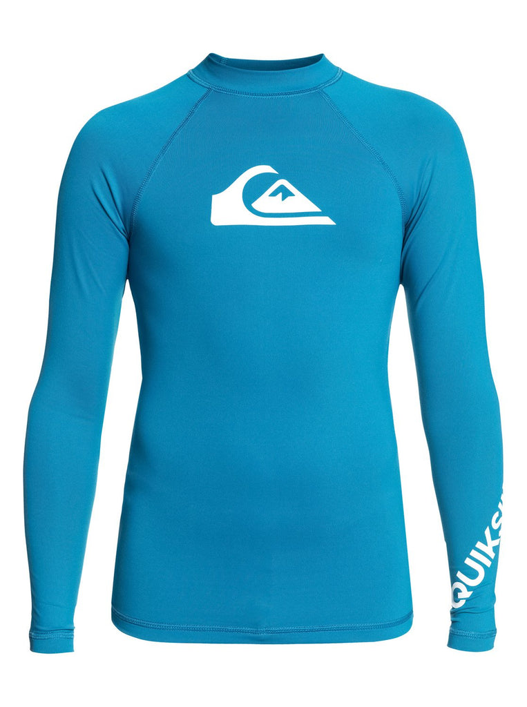 Quiksilver Youth All Time LS Rashie - Crystal Teal