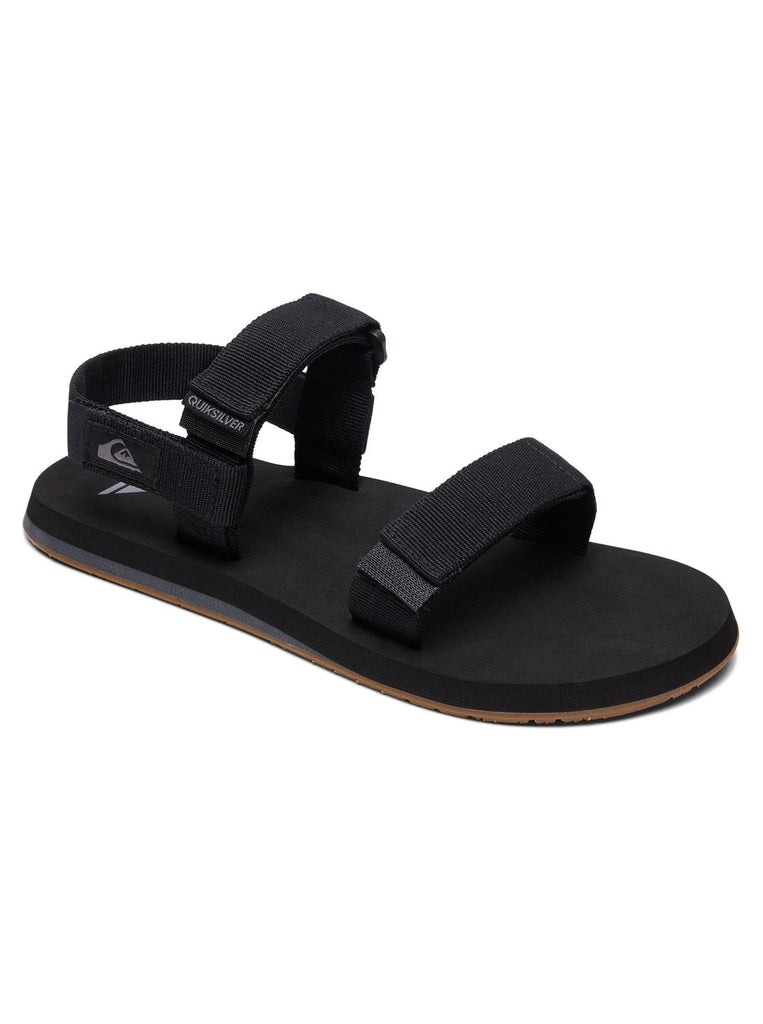 Quiksilver Monkey Caged Youth Sandals - Black/Grey/Brown