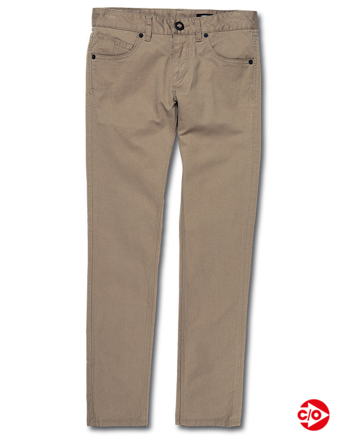 Volcom Youth Vorta Tapered Pant - Beige