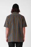 RPM S/S Panel Shirt - Navy Stripe