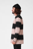 RPM Stripe L/S Tee - Black/Sand