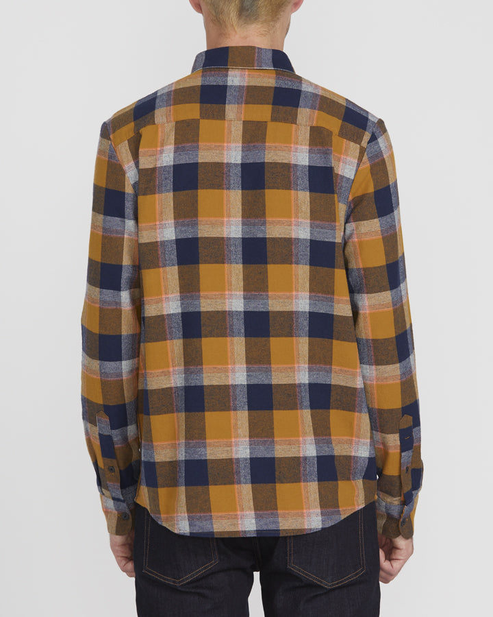 Volcom Caden Plaid L/S - Bronze