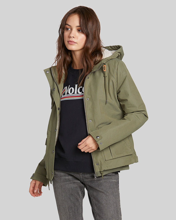 Volcom Walk On By Parka Short - Army Combo