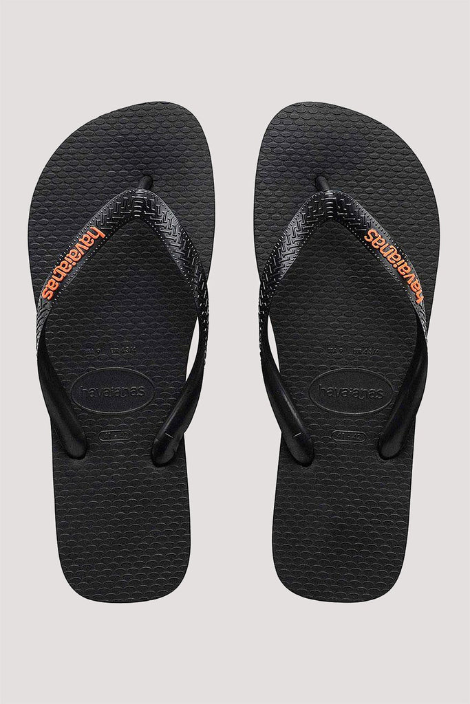 Havaianas Logo Filete - Black/Vibrant Orange