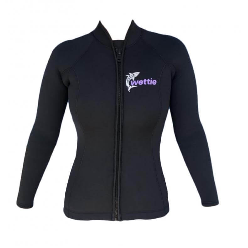 Wettie Womens 3mm Super Stretch Zip Jacket