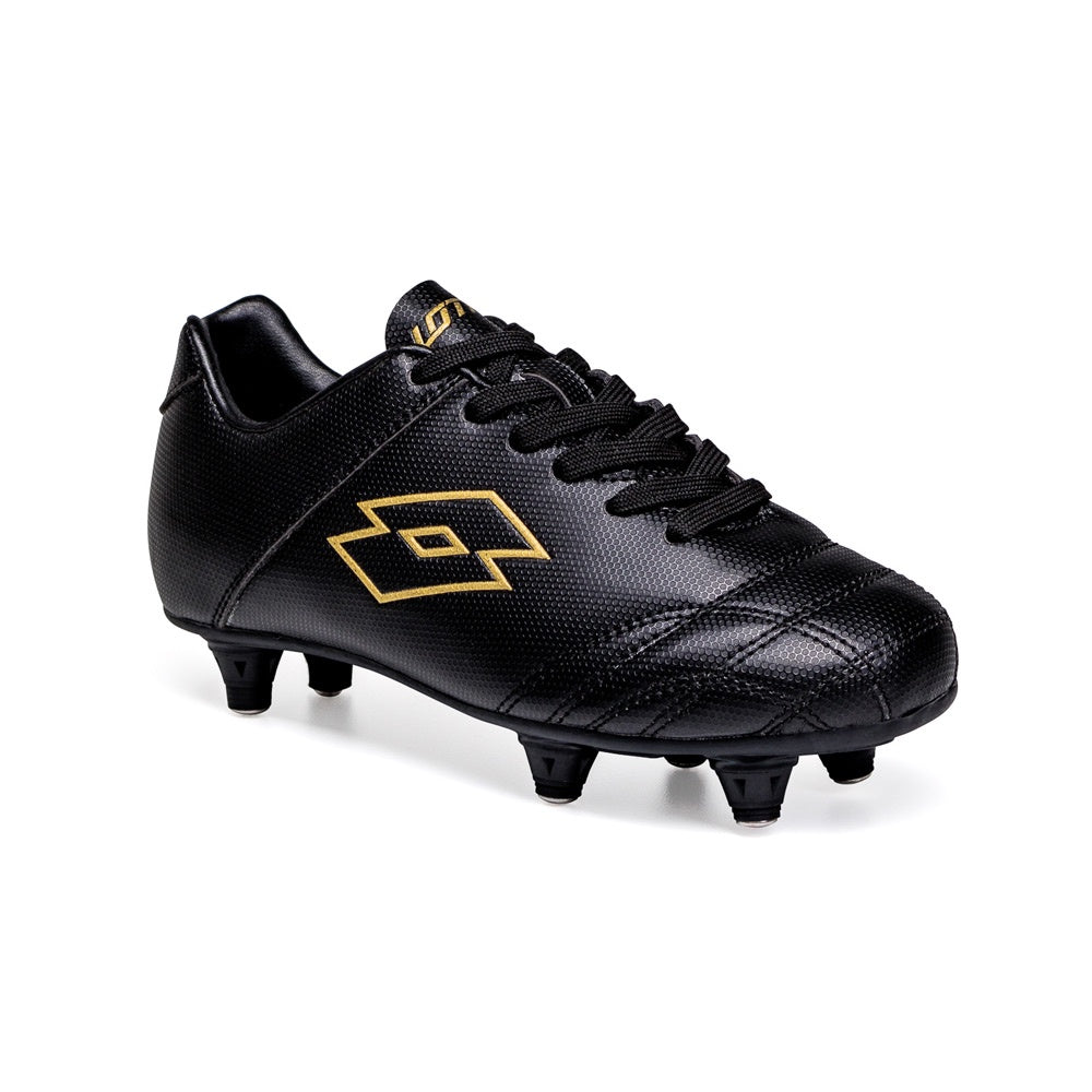 Lotto Thor SG Jnr Boot with Studs - Black/Gold