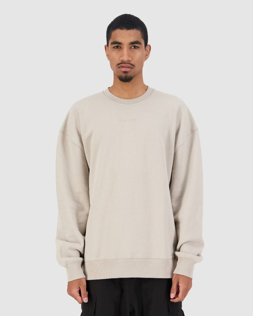 Huffer Mens Premiere Crew - Sand
