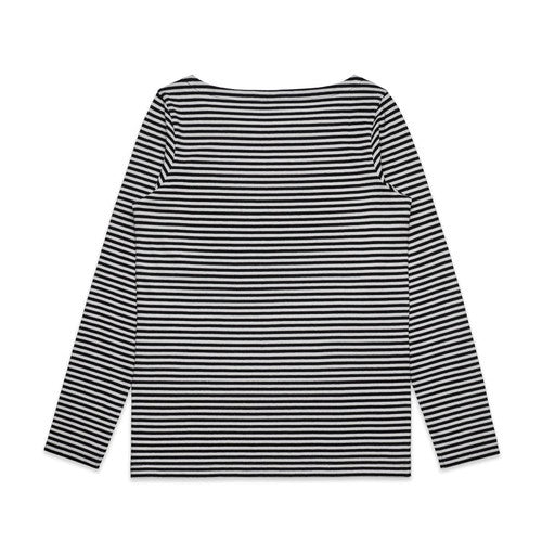 AS Colour Womens Bowery Stripe LS - Black/Natural
