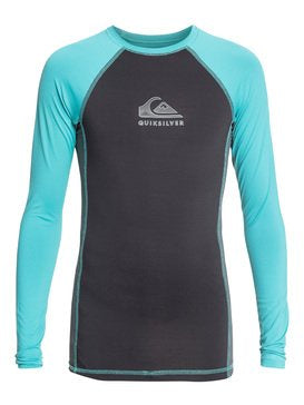 Quiksilver Youth Backwash LS Rashie - Porcelain