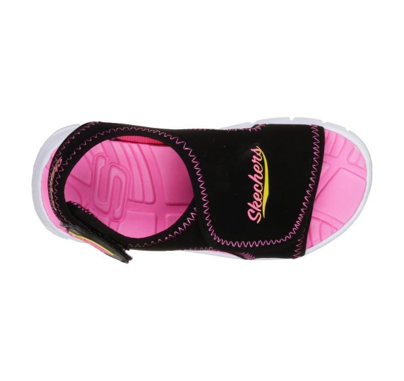 Skechers Girls Synergy - Aqua Breeze - Black/Hot Pink